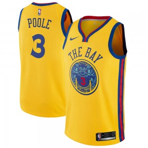 Youth Jordan Poole Golden State Warriors Nike Swingman Gold Jersey - City Edition