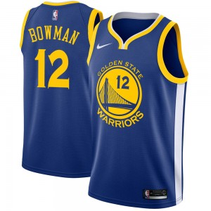 Youth Ky Bowman Golden State Warriors Nike Swingman Blue Jersey - Icon Edition