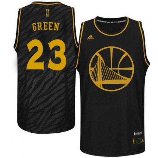 Men's Draymond Green Golden State Warriors Adidas Authentic Gold Black Precious Metals Fashion Jersey